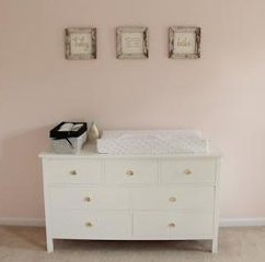 DIY handmade homemade Pottery Barn style baby girl nursery dresser woodworking pattern project