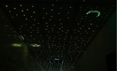 Twinkling fiber optic lights stars baby nursery ceiling