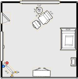 15X15 baby nursery floorplan example layout design