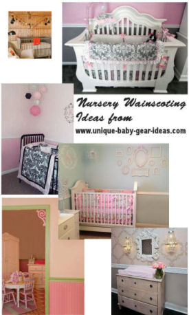 DIY ideas for nursery wainscoting beadboard panels barn door