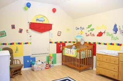 Joshua's Dr Seuss One Fish Two Fish Red Fish Blue Fish Baby Nursery Pictures