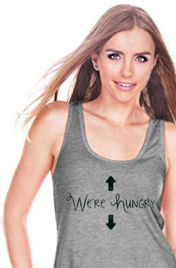 Pregnancy Baby Birth Announcement Tank Top I'm Hungry