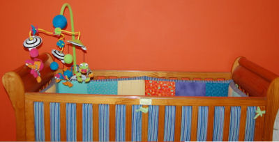 orange nursery wall decor