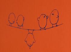 Orange Baby Nursery Wall Painting Technique