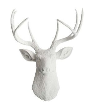 White ceramic resin 8 point buck deer head wall decoration decor
