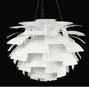 Modern white artichoke leaves layered baby nursery pendant ceiling lamp light