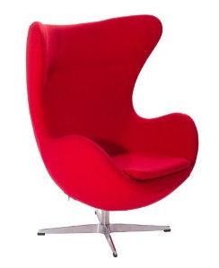 Bright orange modern egg chair
