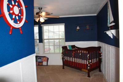 Our baby boy's red, white and blue nautical nursery