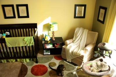 Main wall of our baby boy's Disney nursery room theme