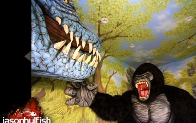 Custom Dinosaur Jungle Nursery Wall Mural