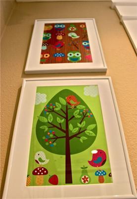 Baby Owl Nest Nursery Wall Art