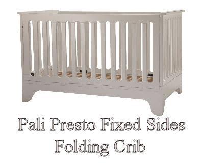 Pali Presto baby crib with fixed folding sides
