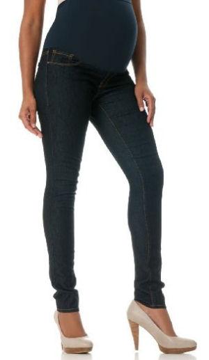 5 pocket skinny maternity jeans in indigo blue