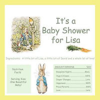 Personalized Beatrix Potter Peter Rabbit baby shower invitations