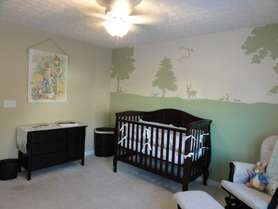 Peter Rabbit Baby Nursery Theme Wall Mural and Painting Ideas