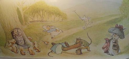 peter rabbit beatrix potter baby nursery wall mural painting