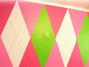 hot pink green and white argyle nursery wall colors schemes pictures