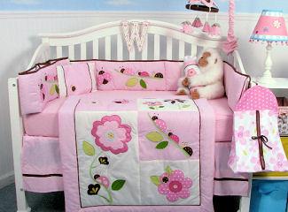 Pink ladybugs baby nursery ideas