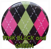 hot pink black green and white argyle nursery wall colors schemes pictures