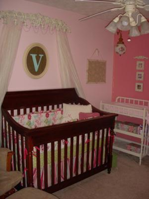 Touch of Vintage Love Pink Baby Girl Nursery