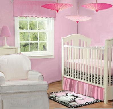 Baby Girl Pink Zebra Nursery Ideas for Spring with an umbrella theme