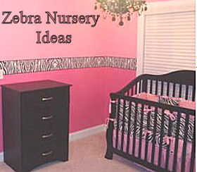Pink black and white zebra stripes baby girl nursery decorating ideas