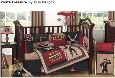 baby nursery pirate crib bedding set quilt ahoy