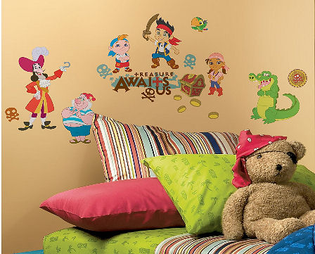 Disney Peter Pan wall decals and stickers collection including the pirate Captain Hook