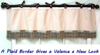 Mad About Plaid baby nursery window curtain valance