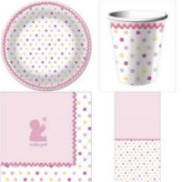 polka dots dot baby shower supplies favors tableware table ware decorations personalized