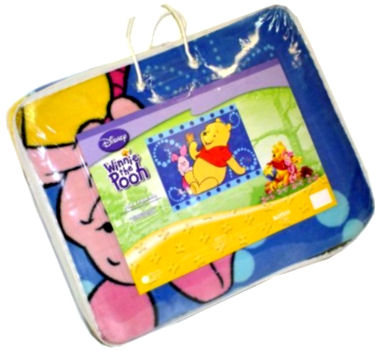 Large Winnie the Pooh area rug for a baby nursery room