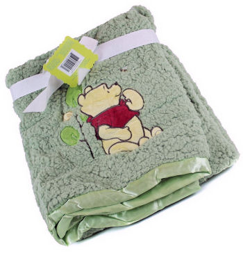 Gender neutral plush Winnie the Pooh Baby Blanket Gift Set