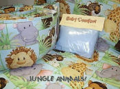 portable jungle theme animal baby crib bedding sheets travel crib bedding set