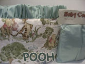 portable winnie the pooh bear theme animal baby crib bedding sheets travel crib bedding set