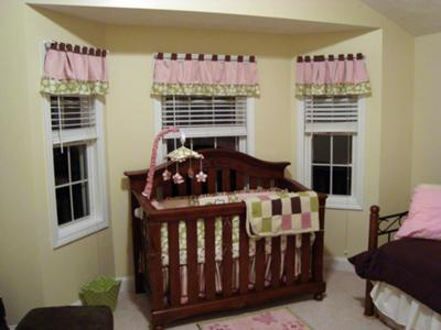 Brown PInk and Green Baby Girls Nursery Theme Decor