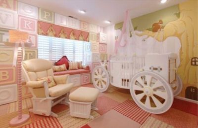 Fairy Princess Carriage Baby Crib. A luxury baby bed perfect for a newborn Cinderella.