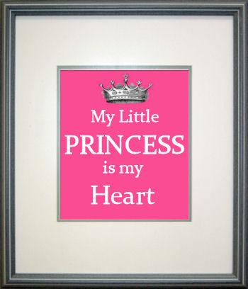 Custom baby girl princess nursery wall art saying designed by Jan Bay webmaster of Unique Baby Gear Ideas