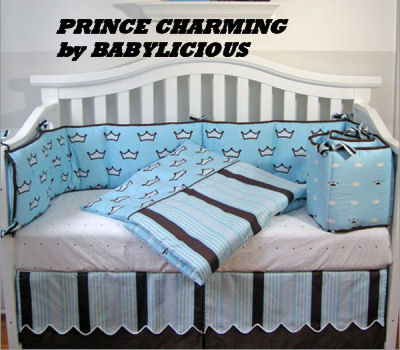 baby boy prince crib bedding nursery decorating design sheets theme