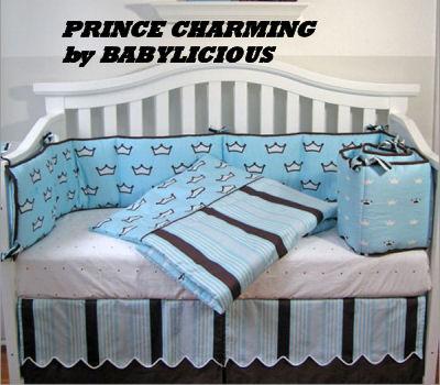 baby boy prince crib bedding nursery decorating design sheets theme