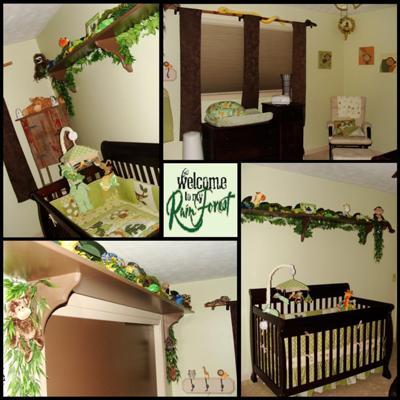 Tropical Rainforest Baby Nursery Theme Ideas