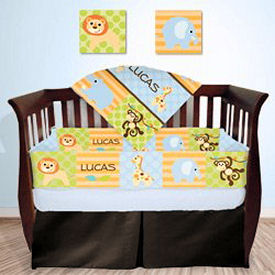 Personalized rainforest baby nursery theme ideas with tigers