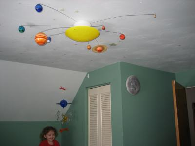 Homemade Planets - Solar System Kids Ceiling Light