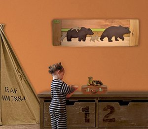 DIY reclaimed wood rustic bear baby nursery wall art decor hanging