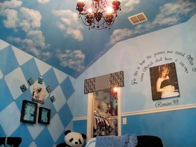 Our Baby Boy's Angelic Nursery Ceiling