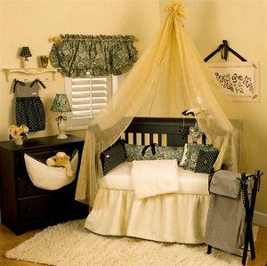 romantic black and white romantic baby nursery bedding
