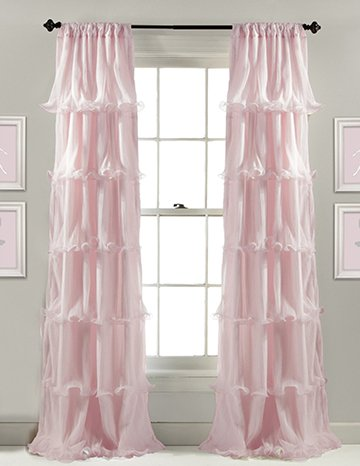 pink curtains and window treatment ideas for a baby girl