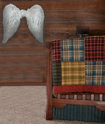 Rustic baby girl angel nursery theme ideas
