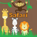 Wild jungle safari baby shower invitations and announcements with baby zoo animals