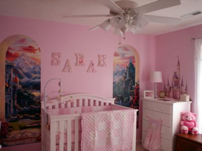 Princess Sarah's Castle Theme Baby Nursery in Pink