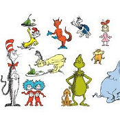 Dr Seuss baby nursery wall stickers and decals for a Dr. Seuss room theme